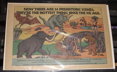Aurora Prehistoric Scenes Ads