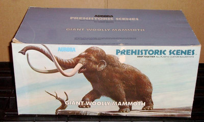 Aurora Prehistoric Scenes Giant Woolly Mammoth Box