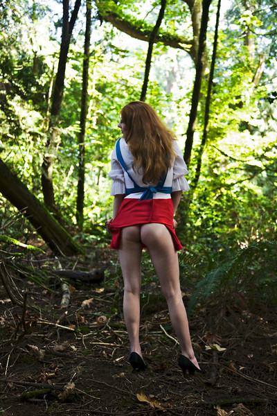 Being sexy out in the woods