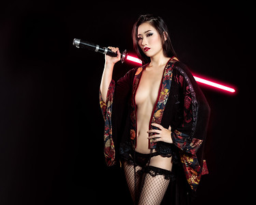 """I had originally envisioned this with a more full length red and black Kimono, but when she told me, she didn't ahve a traditional Kimono in Sith colors, i said, """"YUKATA BE KIDDING ME!"""""""
