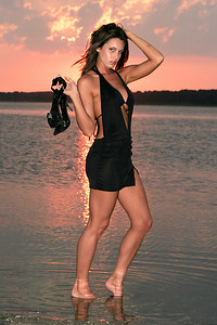 Jenn - Sunset Portrait - Chincoteague, Virginia