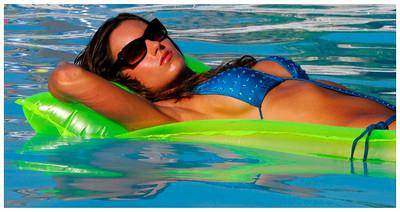 Jenn in the Pool - Chincoteague, Virgina