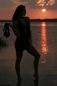 Jenn - Sunset Sihouette - Chincoteague, Virginia