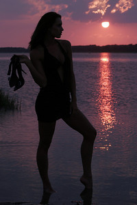 Jenn - Sunset Silhouette II - Chincoteague, Virginia