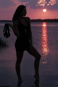 Jenn - Sunset Silhouette II - Chincoteague, Virginia