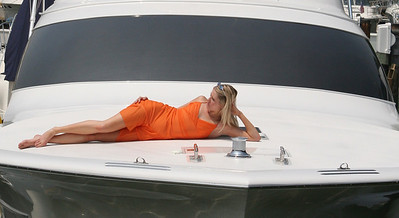 Sunbathing on the Yacht - Jennifer - Summit North Marina, Delaware