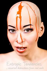Kumi Monster (strawberry syrup) Model: Kumi MonsterPhotographer: Barrie Spence