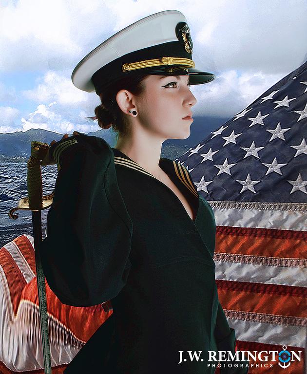 Holly Rogue Sea Cadet Pinup