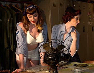 Saraphena and Sadie Century NY Pin Up Club Air Power Museum
