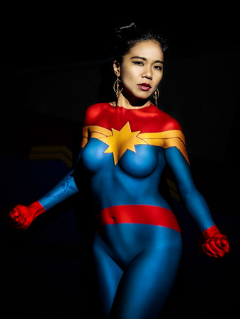 Number three from my super hero projection.  Isn't she a Marvel?