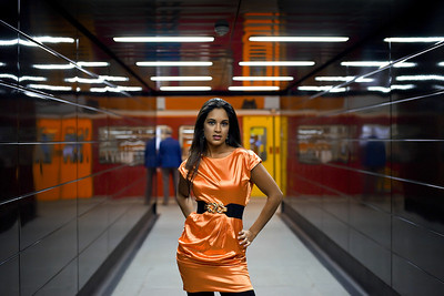 I have two images in particular from my model work that everyone always remembers and this is the second, by coincidence also featuring a train!  I transposed fashion shoots from London's Underground, 300 miles north to the Tyneside Metro.  Leah Baskaran looked stunning as usual.  Dave Taylor, a good friend and colleague, rates this shoot as my best ever and I probably agree.  It certainly was the most demanding in terms of timing and organisation.  Great fun though and a successful first outing for my Alpha 900.