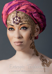 Kumi Monster - henna and make-up by Taiyyibah Bashir Model: Kumi MonsterPhotographer: Barrie Spence