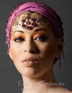Kumi Monster - henna and make-up by Taiyyibah Bashir Model: Kumi MonsterPhotographer: Barrie Spence