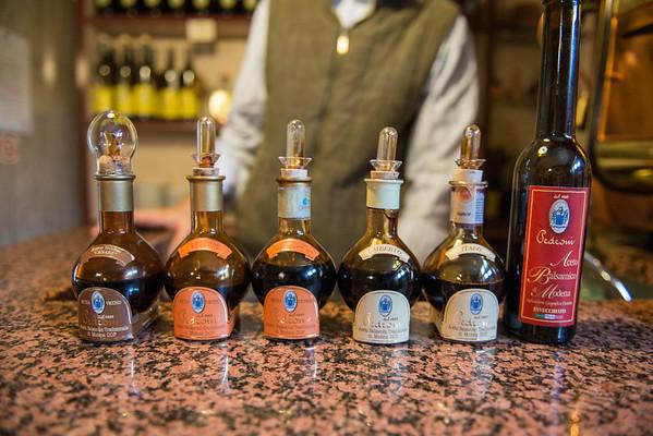 Tasting Pedroni's traditional balsamic vinegar of Modena