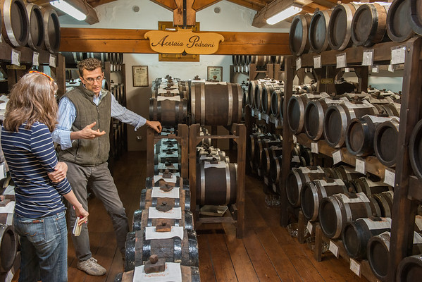 A visit to Acetaia Pedroni, a family run company that has been making traditional balsamic vinegar for 6 generations