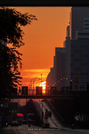 Sunrise at Bangkok