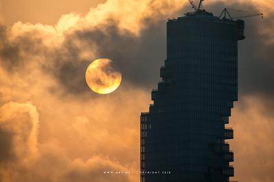 Sunrise and Mahanakhon Building