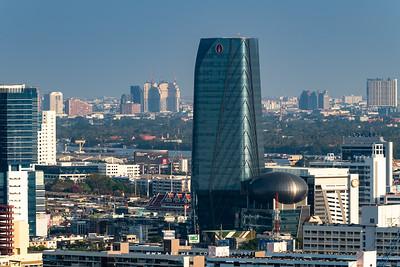 Bangkok Cityscape view from The Residences at Sindhorn Kempinski