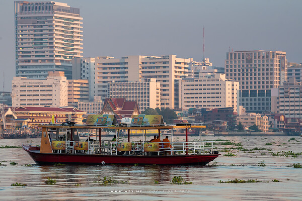 Buddhist Monk and the People of Bangkok
