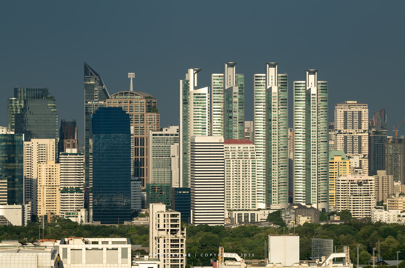 Bangkok Cityscape view from Samyan MitrTown
