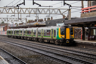 350 111 calls at Stafford with the 10.02 Crewe - London Euston (via Stoke) on 6th March 2019.