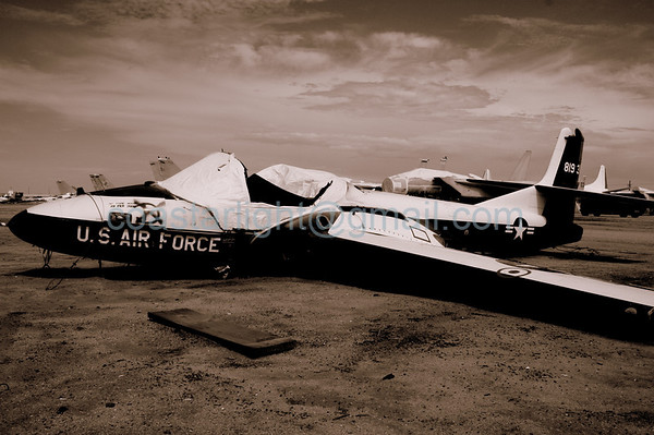 Tweet awaiting the scrapper. July 20, 2006. AMARC... the Boneyard near Davis Monthan AFB, Tucson, AZ. © Brandon Lingle