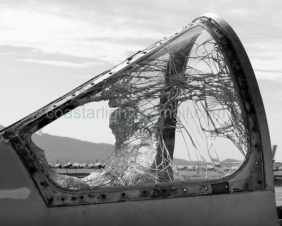 Shattered canopy. July 20, 2006. AMARC... the Boneyard near Davis Monthan AFB, Tucson, AZ. © Brandon Lingle
