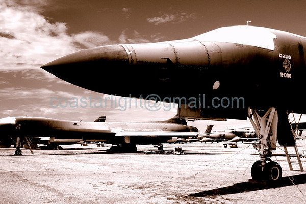 B-1B Lancer (Bone). July 20, 2006. AMARC... the Boneyard near Davis Monthan AFB, Tucson, AZ. © Brandon Lingle