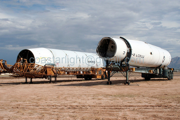 Titan II and Thor missiles. July 20, 2006. AMARC... the Boneyard near Davis Monthan AFB, Tucson, AZ. © Brandon Lingle