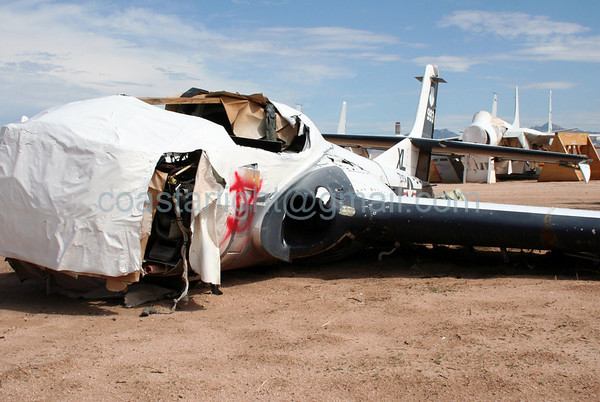 Cessna T-37 Tweet to be sold for scrap. July 20, 2006. AMARC... the Boneyard near Davis Monthan AFB, Tucson, AZ. © Brandon Lingle