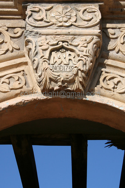 Details of the Alamo chapel arch