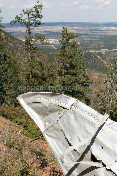 An ironic view of the Air Force Academy from the C-49 crash site on Blodgett Peak. © Brandon Lingle