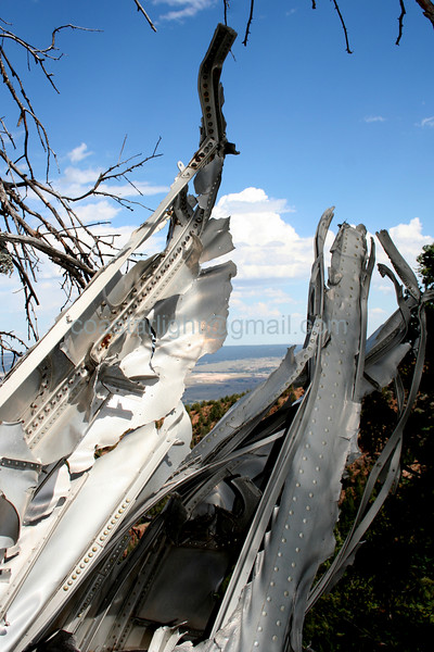 C-49 wreckage, Blodgett Peak, Colorado. © Brandon Lingle