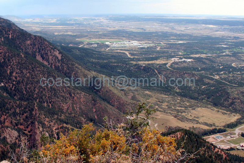 View of Air Force Academy from Blodgett Peak. © Brandon Lingle