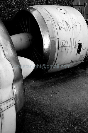 Graffiti on C-141 engine    © Brandon Lingle