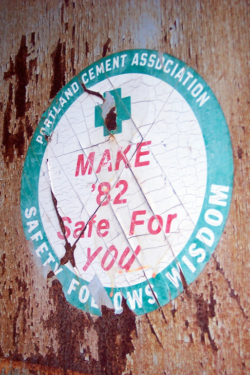 Make '82 Safe for You. Safety Follows Wisdom. Portland Cement Association.