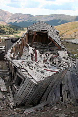 Dauntless Mine building. Mt. Sherman, CO.