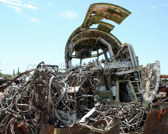 Airplane guts. Scrapyard outside of AMARC (the Boneyard) near Davis Monthan AFB, Tucson, AZ. July 20, 2006.
