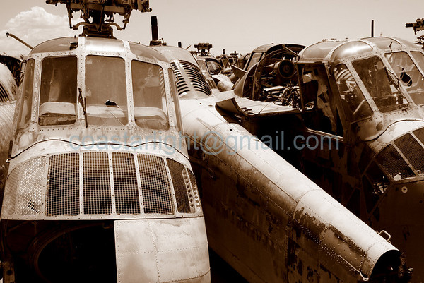 Old helicopters. Scrapyard outside of AMARC (the Boneyard) near Davis Monthan AFB, Tucson, AZ. July 20, 2006.