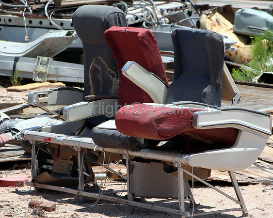 Have a seat. Scrapyard outside of AMARC (the Boneyard) near Davis Monthan AFB, Tucson, AZ. July 20, 2006.