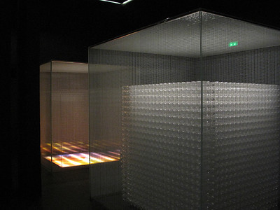 Chateau Lacoste Illuminated Cubes by Tadeo Ando