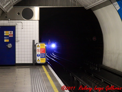 The unmistakable headlights of a Victoria Line 09 stock as it stands outside Oxford Circus with a Brixton bound service on the 9th February 2011 - RIGalleries