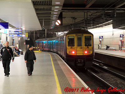 319362 leaves St. Pancras International Low Level on the 14th February 2011 - RIGalleries