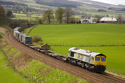 The Fastline 66 again on the Grangemouth-Aberdeen, this time on 16th April 2011 near Gleneagles. - Peter Kellet