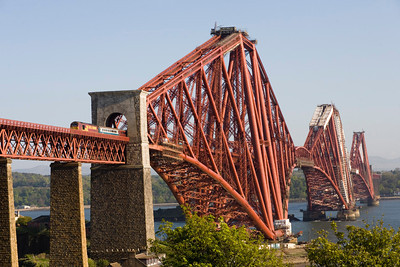 And finally for this eveing, stop cheering , the second Fife Circle LHS emerging out of the northern portal of The Forth Bridge. - Peter Kellet
