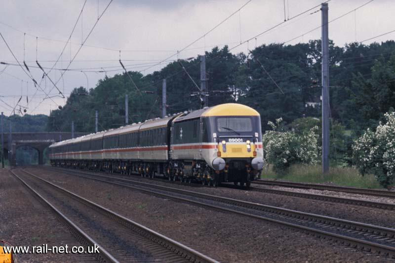 Ok a new twist for all you quiz folk out there Rather than where is it, what was it doing :o) ... 89001 (Duh) passing north through Woolmer Green, but what was special about the working. I'd like to know where it was going and why. Image supplied by Marcus Dawson