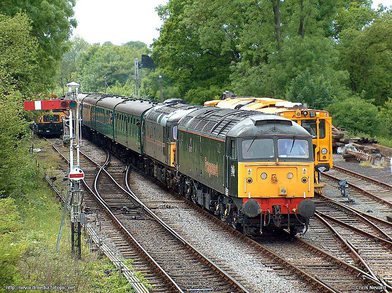 Hopefully just about get away with this one - they do after all earn their keep on the mainline. 47355 / 33108 1425 Alresford - Alton, Medstead & Four Marks. HP 945. Mid-Hants Railway Diesel Gala 23 May 2004. Image supplied by nevardmedia
