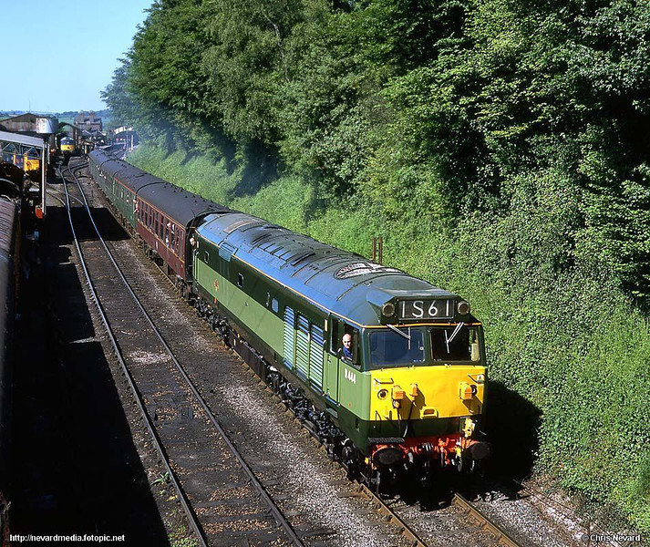 Modern traction - just? 50044, 0955 Alresford - Alton, Ropley. Mamiya C33, Provia 100F. Mid-Hants Railway Diesel Gala 23 May 2004. Image supplied by nevardmedia