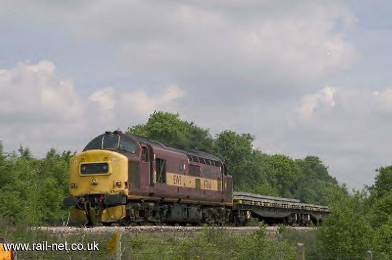 With a departmental working 37667 passes Worting Junction. Image supplied by rail_net_2k