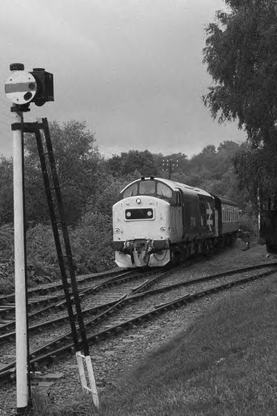 37190 rounds the curve into Highley station - a shot revisited.  Image supplied by Marcus Dawson.